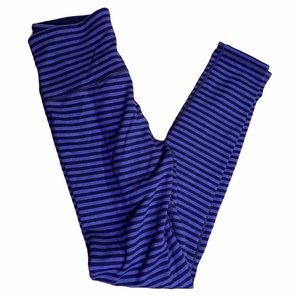 Ivivva Reversible Striped Purple Leggings Sz 14